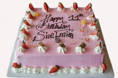Vanilla Cake in Pink icing