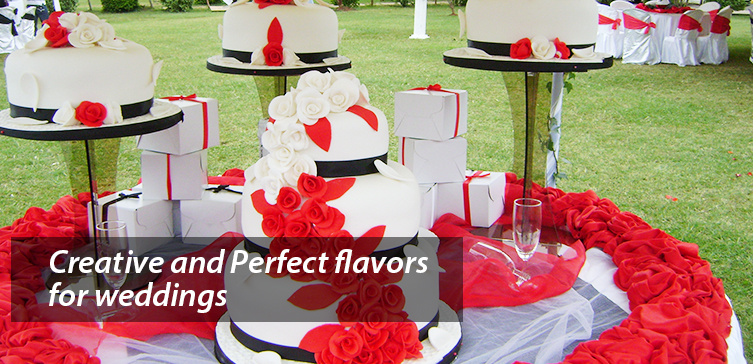 Perfect & Creative Flavors for weddings